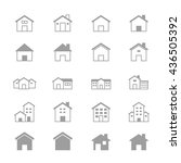 house and home set of building... | Shutterstock .eps vector #436505392