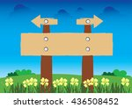 guide post icon vector the... | Shutterstock .eps vector #436508452
