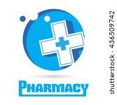 logo pharmacies and medicine.... | Shutterstock .eps vector #436509742