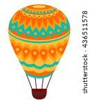 adventure  air  airship ... | Shutterstock .eps vector #436511578