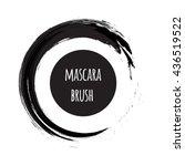 black brush stroke vector... | Shutterstock .eps vector #436519522
