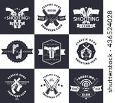 shooting club  guns and ammo... | Shutterstock .eps vector #436524028