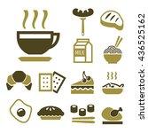 breakfast icon set | Shutterstock .eps vector #436525162