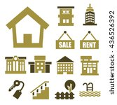 buying home icon set | Shutterstock .eps vector #436526392