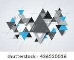 abstract modern background with ... | Shutterstock .eps vector #436530016
