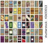 a collection of sixty retro... | Shutterstock .eps vector #43653013