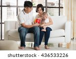 asian parent playing education... | Shutterstock . vector #436533226