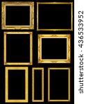 collection golden frame... | Shutterstock . vector #436533952