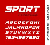 sport style typeface. ideal for ... | Shutterstock .eps vector #436539385