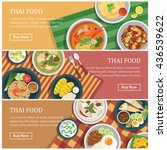 thai food web banner  coupon ... | Shutterstock .eps vector #436539622