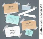 paper set of different scraps...   Shutterstock .eps vector #436547518