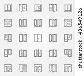 window icons set. vector... | Shutterstock .eps vector #436549126