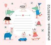 cute calendar daily planner... | Shutterstock .eps vector #436550722