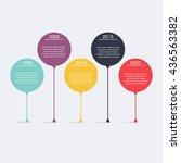 timeline infographic design... | Shutterstock .eps vector #436563382