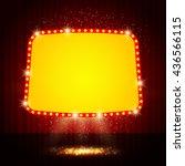 shining retro casino banner on... | Shutterstock .eps vector #436566115