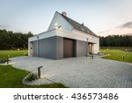 new style white villa with... | Shutterstock . vector #436573486
