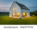 beautiful villa with wide... | Shutterstock . vector #436575742