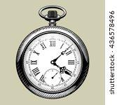 old clock face. retro pocket...   Shutterstock . vector #436578496