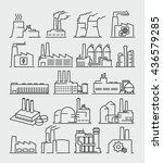 industrial building factory... | Shutterstock .eps vector #436579285