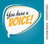 you have a voice retro speech...   Shutterstock .eps vector #436591462