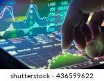 economy graph of stock market...