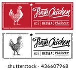 chicken in the form of... | Shutterstock .eps vector #436607968