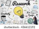 research creativity design... | Shutterstock . vector #436612192