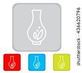 web line icon. vase. | Shutterstock .eps vector #436620796