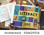 literacy study reading learning ... | Shutterstock . vector #436624516