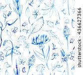 Blue Wild Flowers.floral...