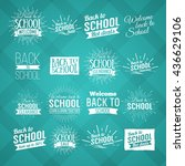 back to school typography  ... | Shutterstock .eps vector #436629106