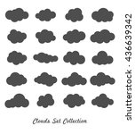 clouds silhouettes. vector set... | Shutterstock .eps vector #436639342