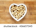 raw cashew nuts heart | Shutterstock . vector #436657345