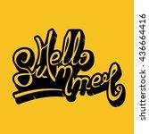 hello summer lettering vector   Shutterstock .eps vector #436664416