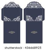 set of 2 wedding invitation... | Shutterstock .eps vector #436668925