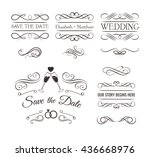 vintage ornaments   collection... | Shutterstock .eps vector #436668976