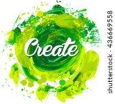 flyer template or invitation... | Shutterstock .eps vector #436669558