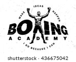 logotype boxing academy with... | Shutterstock .eps vector #436675042