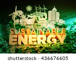 the concept of sustainable...   Shutterstock . vector #436676605