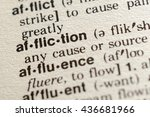 Small photo of Close-up of The Word Affliction in a Dictionary