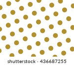 classic gold polka dots... | Shutterstock .eps vector #436687255