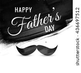 happy father's day vector card | Shutterstock .eps vector #436697512