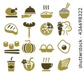 food icon set | Shutterstock .eps vector #436698322