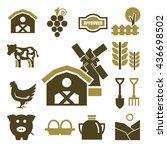 farm icons set | Shutterstock .eps vector #436698502