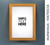 realistic wooden picture frame... | Shutterstock .eps vector #436703116