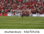 blurred crowd of spectators on... | Shutterstock . vector #436705156