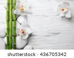 beautiful spa composition with... | Shutterstock . vector #436705342