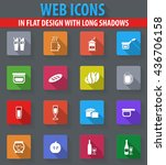 food and kitchen web icons in... | Shutterstock .eps vector #436706158