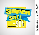 super sale and special offer....   Shutterstock .eps vector #436712482