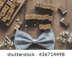 happy fathers day | Shutterstock . vector #436714498